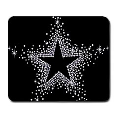 Sparkling Bling Star Cluster Large Mouse Pad (rectangle) by artattack4all