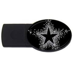Sparkling Bling Star Cluster 2gb Usb Flash Drive (oval) by artattack4all