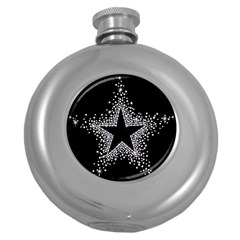 Sparkling Bling Star Cluster Hip Flask (Round) by artattack4all