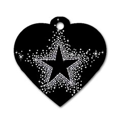 Sparkling Bling Star Cluster Twin Sided Dog Tag (heart) by artattack4all