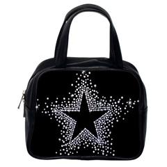 Sparkling Bling Star Cluster Single Sided Satchel Handbag by artattack4all