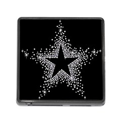 Sparkling Bling Star Cluster Card Reader With Storage (square) by artattack4all