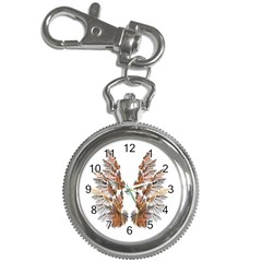 Brown Feather Wing Key Chain & Watch by artattack4all