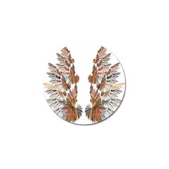 Brown Feather Wing 10 Pack Golf Ball Marker by artattack4all