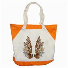 Brown Feather Wing Snap Tote Bag by artattack4all