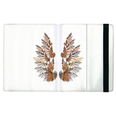 Brown Feather Wing Apple Ipad 3/4 Flip Case by artattack4all