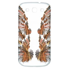 Brown Feather Wing Samsung Galaxy S3 S Iii Classic Hardshell Back Case by artattack4all