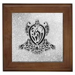 Diamond Bling Lion Framed Ceramic Tile by artattack4all