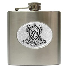 Diamond Bling Lion Hip Flask by artattack4all