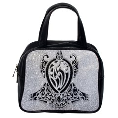 Diamond Bling Lion Single Sided Satchel Handbag by artattack4all