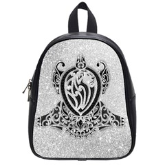 Diamond Bling Lion Small School Backpack by artattack4all