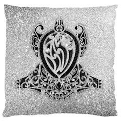 Diamond Bling Lion Large Cushion Case (one Side) by artattack4all