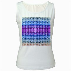 Rainbow Of Colors, Bling And Glitter White Womens  Tank Top by artattack4all