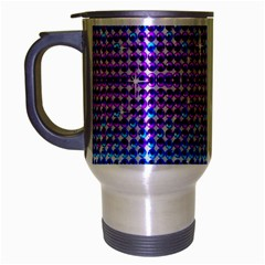 Rainbow Of Colors, Bling And Glitter Brushed Chrome Travel Mug by artattack4all