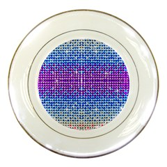 Rainbow Of Colors, Bling And Glitter Porcelain Display Plate by artattack4all