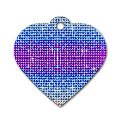 Rainbow Of Colors, Bling And Glitter Single Sided Dog Tag (heart) by artattack4all