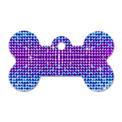 Rainbow Of Colors, Bling And Glitter Single Sided Dog Tag (bone) by artattack4all