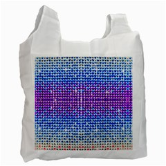 Rainbow Of Colors, Bling And Glitter Single Sided Reusable Shopping Bag by artattack4all