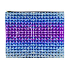 Rainbow Of Colors, Bling And Glitter Extra Large Makeup Purse by artattack4all