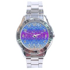Rainbow Of Colors, Bling And Glitter Stainless Steel Analogue Watch (round) by artattack4all