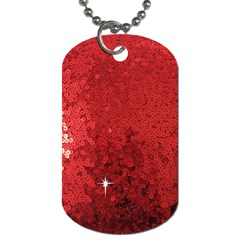 Sequin And Glitter Red Bling Twin Sided Dog Tag by artattack4all