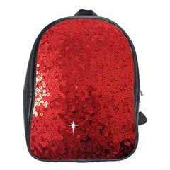 Sequin And Glitter Red Bling School Bag (xl) by artattack4all