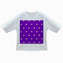 Royal Purple And Silver Bead Bling Baby T Shirt by artattack4all