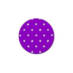 Royal Purple And Silver Bead Bling 4 Pack Golf Ball Marker by artattack4all