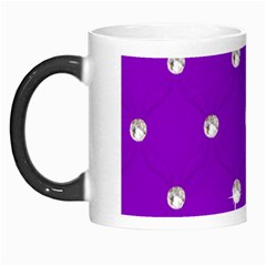 Royal Purple And Silver Bead Bling Morph Mug by artattack4all