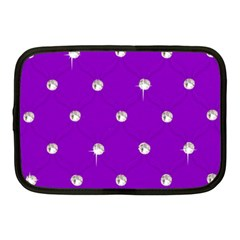 Royal Purple And Silver Bead Bling 10  Netbook Case by artattack4all