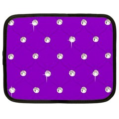 Royal Purple And Silver Bead Bling 12  Netbook Case by artattack4all