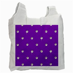 Royal Purple And Silver Bead Bling Twin Sided Reusable Shopping Bag by artattack4all