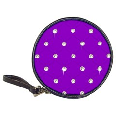 Royal Purple And Silver Bead Bling Cd Wallet by artattack4all