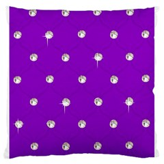 Royal Purple And Silver Bead Bling Large Cushion Case (one Side) by artattack4all