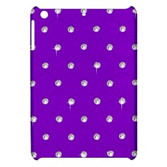 Royal Purple And Silver Bead Bling Apple Ipad Mini Hardshell Case by artattack4all