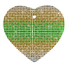 Diamond Cluster Color Bling Ceramic Ornament (heart) by artattack4all
