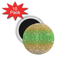 Diamond Cluster Color Bling 10 Pack Small Magnet (round) by artattack4all