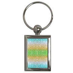 Diamond Cluster Color Bling Key Chain (rectangle) by artattack4all