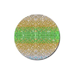 Diamond Cluster Color Bling Rubber Drinks Coaster (round) by artattack4all