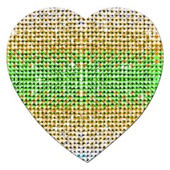Diamond Cluster Color Bling Jigsaw Puzzle (heart) by artattack4all