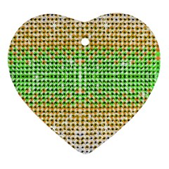 Diamond Cluster Color Bling Heart Ornament (two Sides) by artattack4all