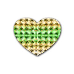 Diamond Cluster Color Bling Rubber Drinks Coaster (heart) by artattack4all