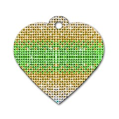 Diamond Cluster Color Bling Single Sided Dog Tag (heart) by artattack4all