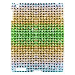 Diamond Cluster Color Bling Apple Ipad 3/4 Hardshell Case by artattack4all