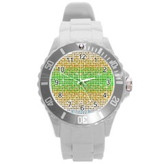 Diamond Cluster Color Bling Round Plastic Sport Watch Large by artattack4all
