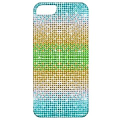 Diamond Cluster Color Bling Apple Iphone 5 Classic Hardshell Case by artattack4all