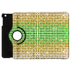 Diamond Cluster Color Bling Apple Ipad Mini Flip 360 Case by artattack4all