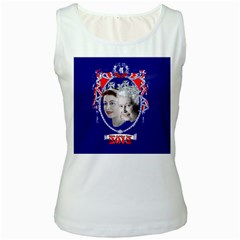 Queen Elizabeth 2012 Jubilee Year White Womens  Tank Top by artattack4all
