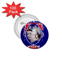 Queen Elizabeth 2012 Jubilee Year 100 Pack Small Button (round) by artattack4all