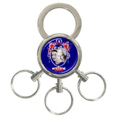 Queen Elizabeth 2012 Jubilee Year 3 Ring Key Chain by artattack4all